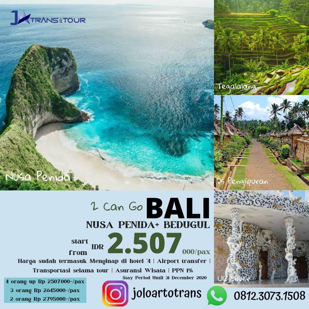 Private Trip Bali 4D3N (Nusa Penida, Bedugul)