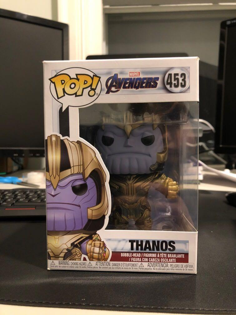 RARE: THANOS FUNKO POP WITH GAUNTLET AND BLADE
