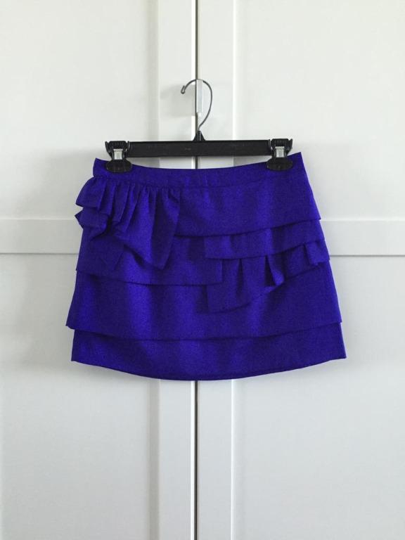 Topshop mini pleated skirt size 2