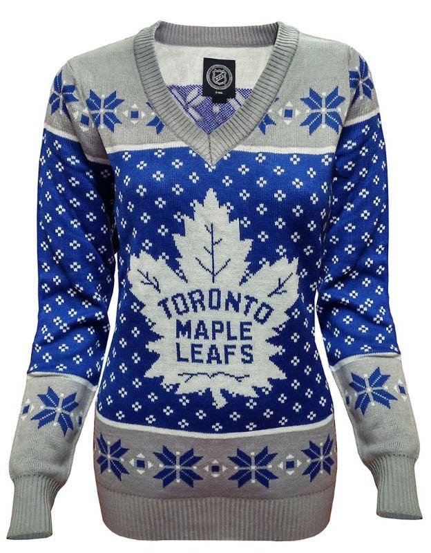 Toronto Maple Leafs V-Neck Ugly Sweater