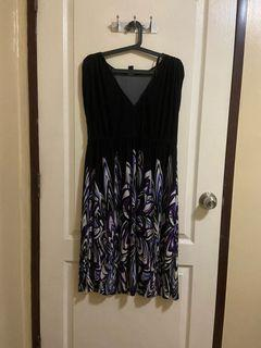 V Neck Cotton Spandex Dress