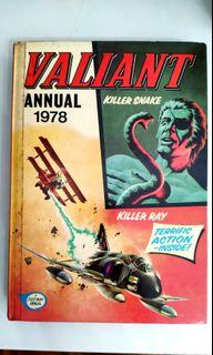 VALLIANT Annual 1976&1978 :Title- Book Of Weapons And War  + Killer Snake And Killer Ray