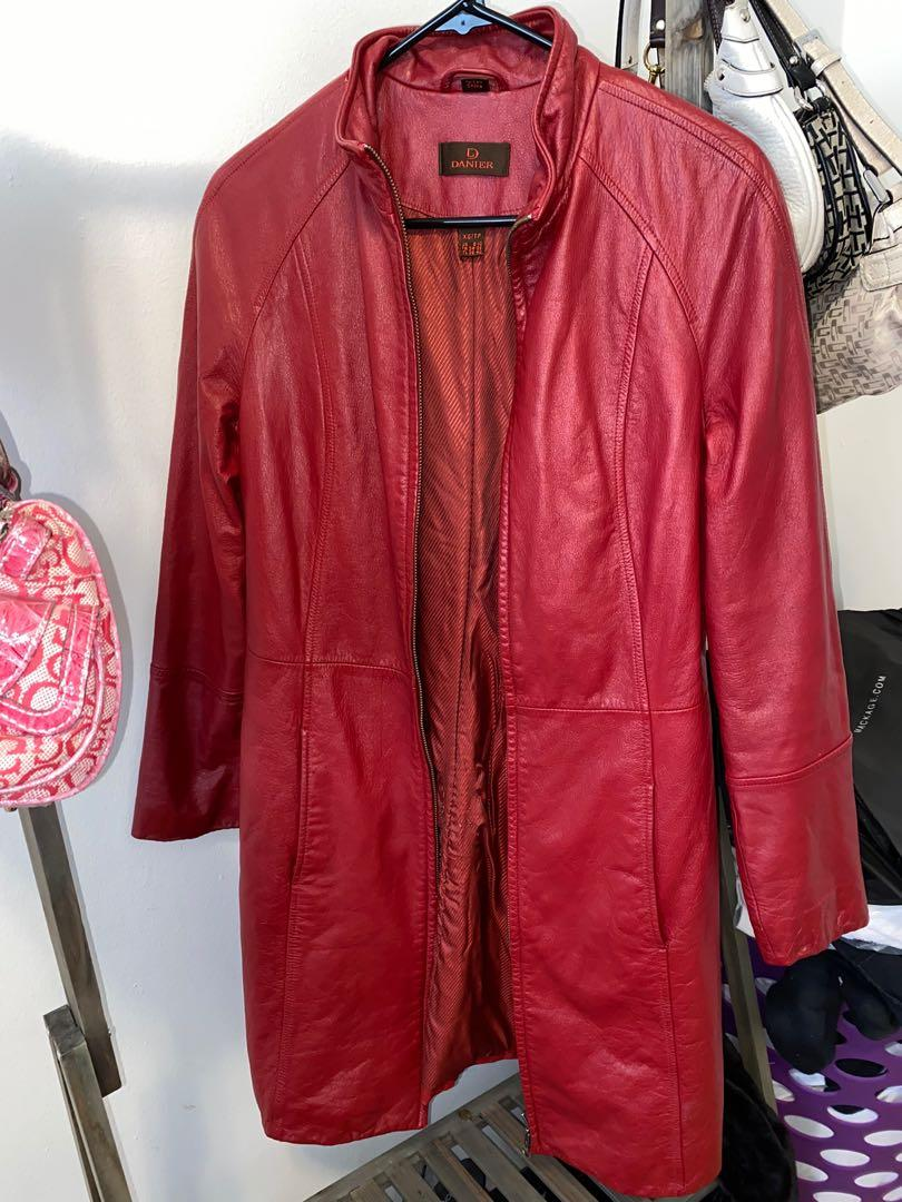 Vintage Danier Leather Trench Coat size XS