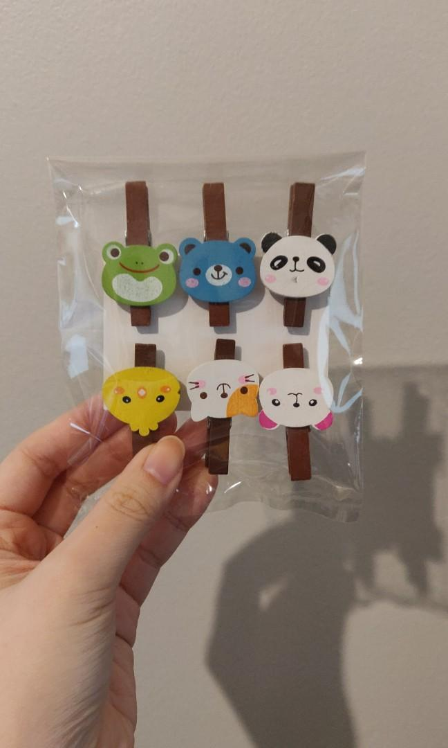 Wooden animal cloth pins
