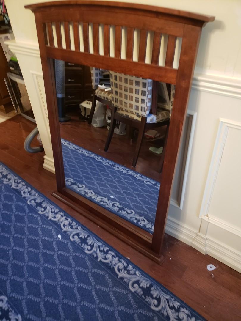 Wooden Bedroom Mirror for Dresser