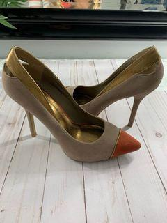 YaYa&Co - Suede nude pumps heels