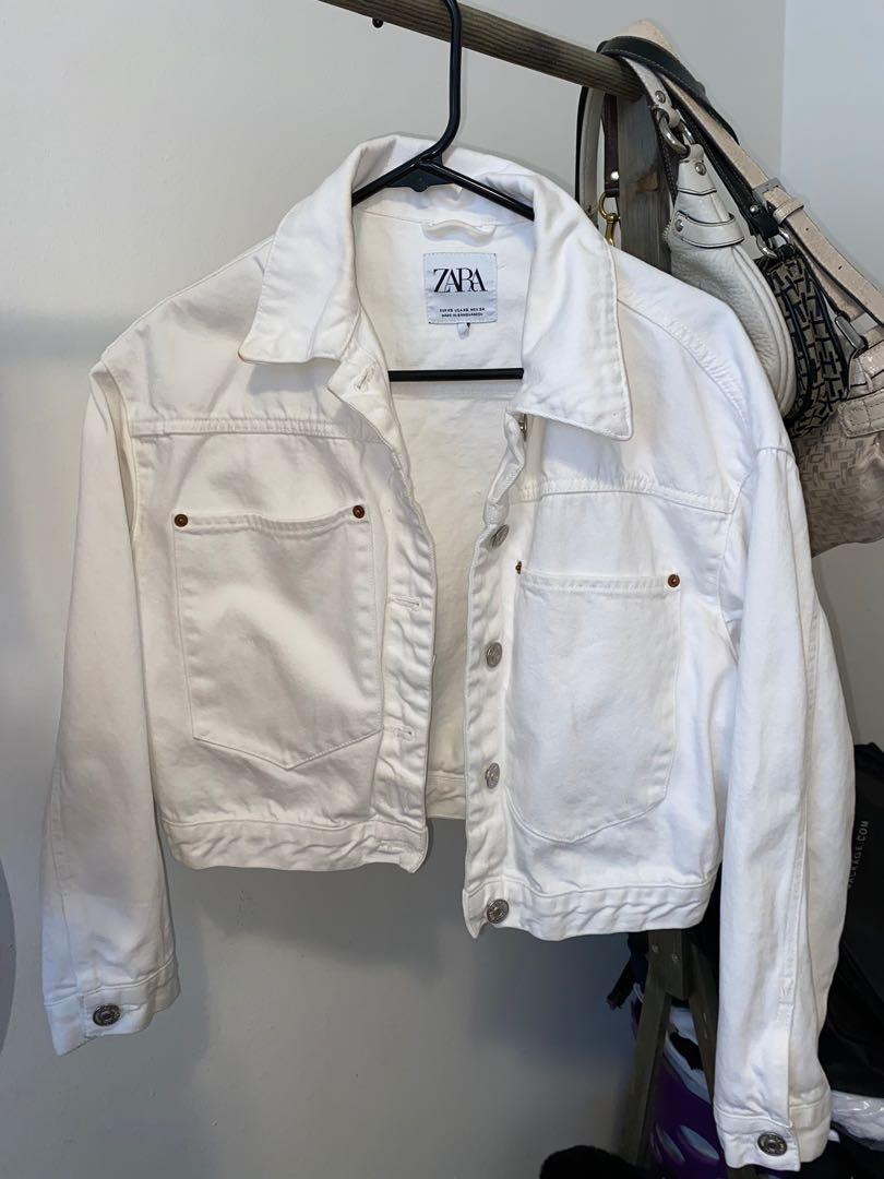 Zara Oversized Cropped Denim Jacket size XS