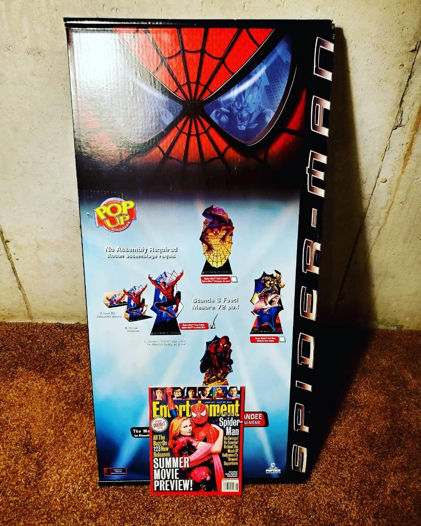 2002 Rare Deadstock Spider-Man Movie Pop - Up Life-size Standee