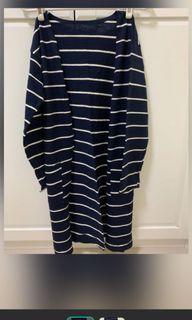 黑白+藍白 EYESCREAM長版條紋外套#WATER