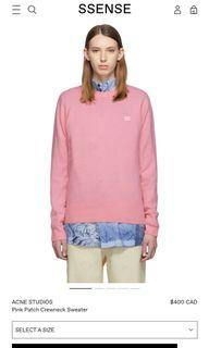 Acne studios pink sweater