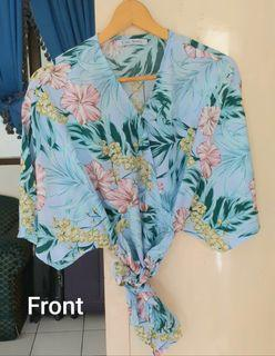 Baby Blue Flowers Top from Chic Simple - Preloved