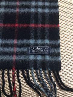 正品、深藍色Burberry圍巾