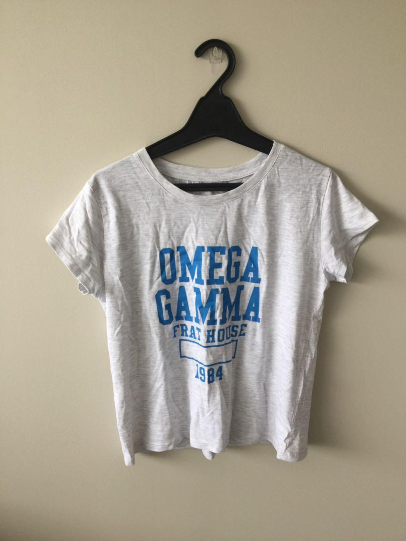Cotton on Omega gamma frat hse crop