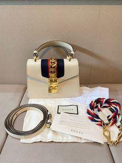 Gucci sylvie mini leather bag white