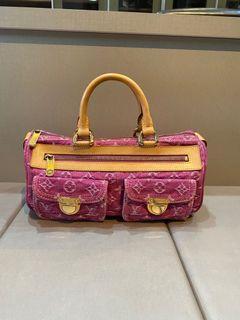 Louis Vuitton LV Pink Denim Monogram Neo Speedy Bag