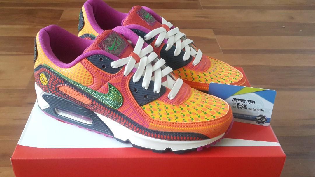 Nike Air Max 90 Dia de los Muertos, Men's Fashion, Footwear ...