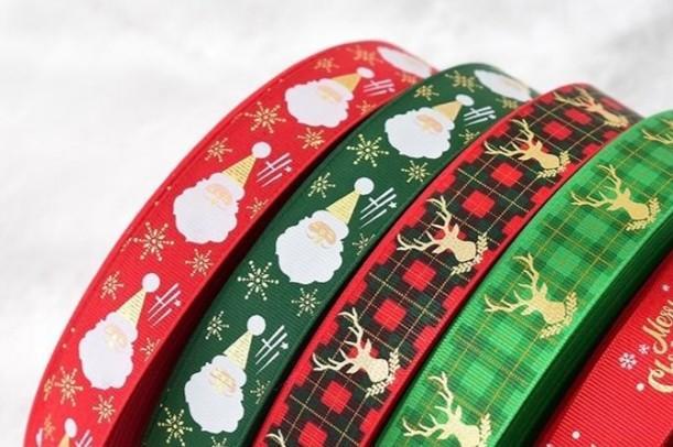 Grosgrain Merry Christmas Ribbon 16mm width 3m or 5m lengths