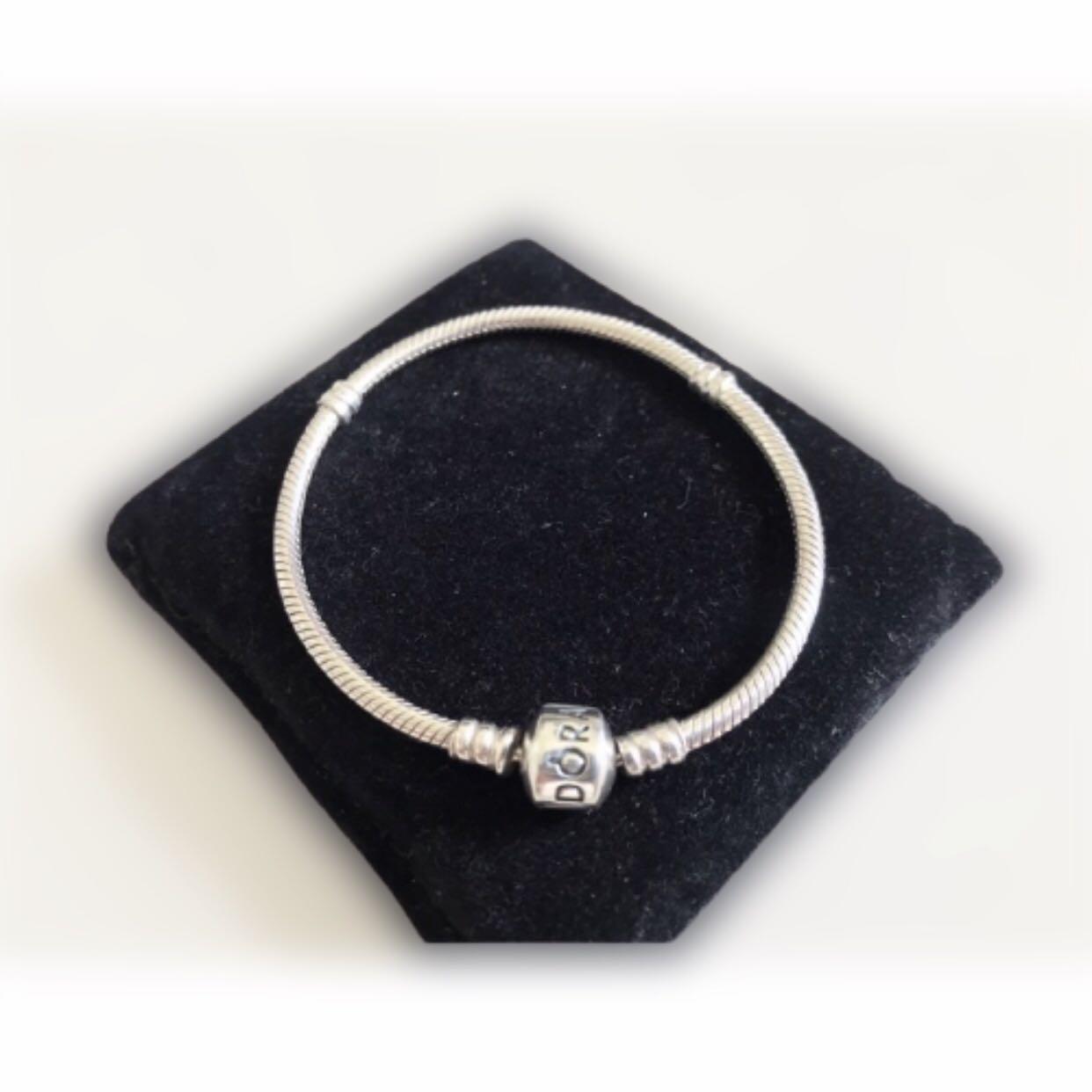 Preloved Pandora Barrel Bracelet Size 17 18 Fesyen Wanita Perhiasan Di Carousell