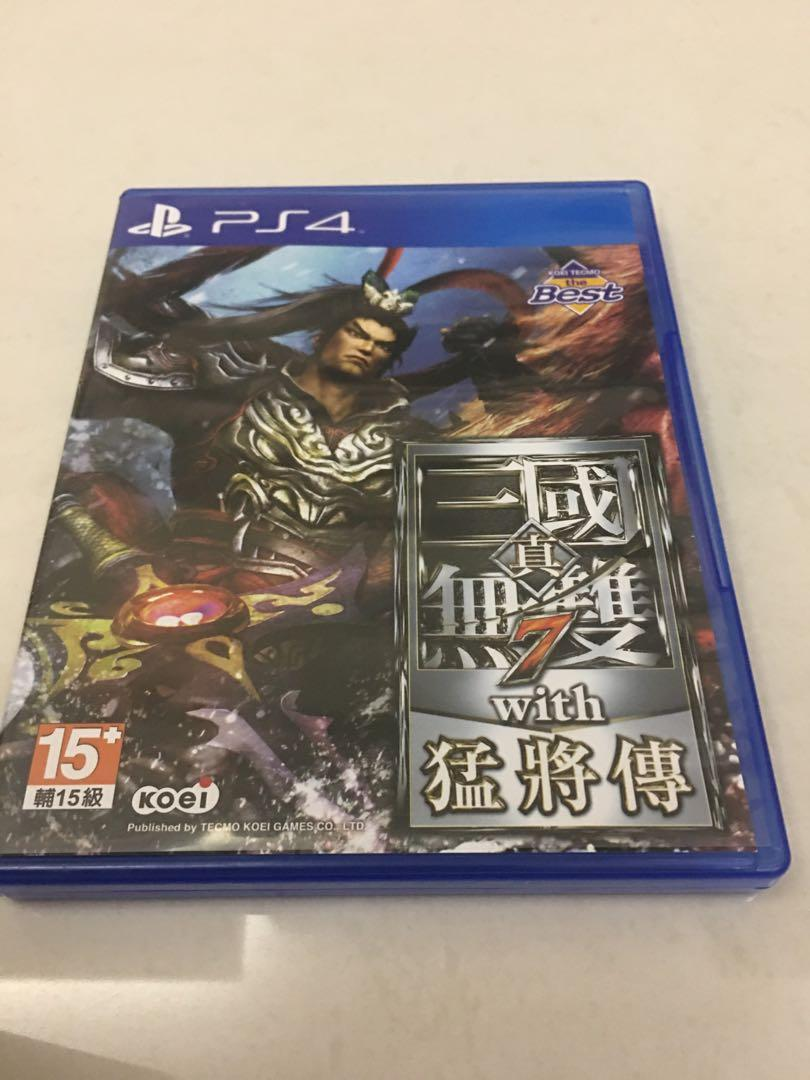 PS4 真 三國無雙 7 猛將傳 中文版 光碟無刮 shin sengoku musou 七 中文