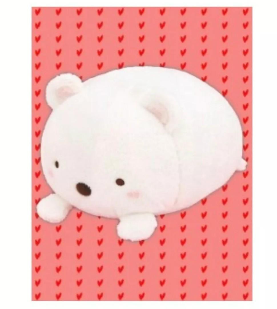 Sumikko gurashi laying down bear Japanese plushy stuffed toy