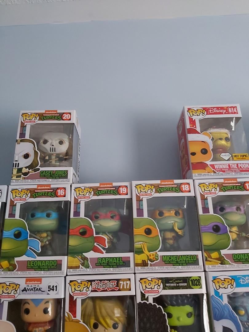 Teenage ninja turtles FunkoPop set