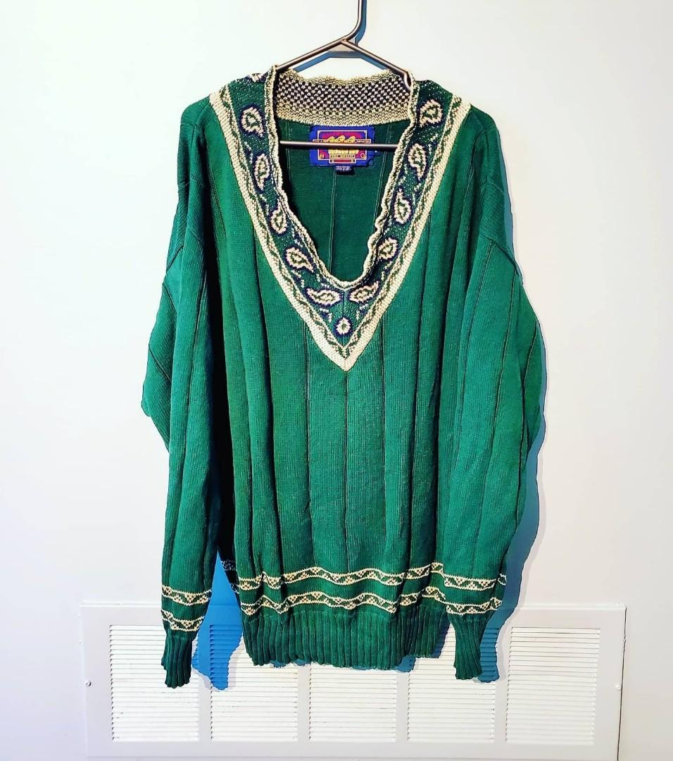 Vintage 80's Ralph Lauren & Chaps V-Neck Knitted Sweater