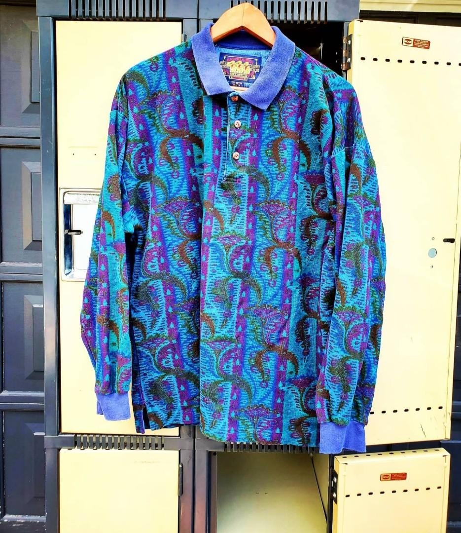 Vintage 90's Ralph Lauren & Chaps Paisley Long-sleeved Shirt