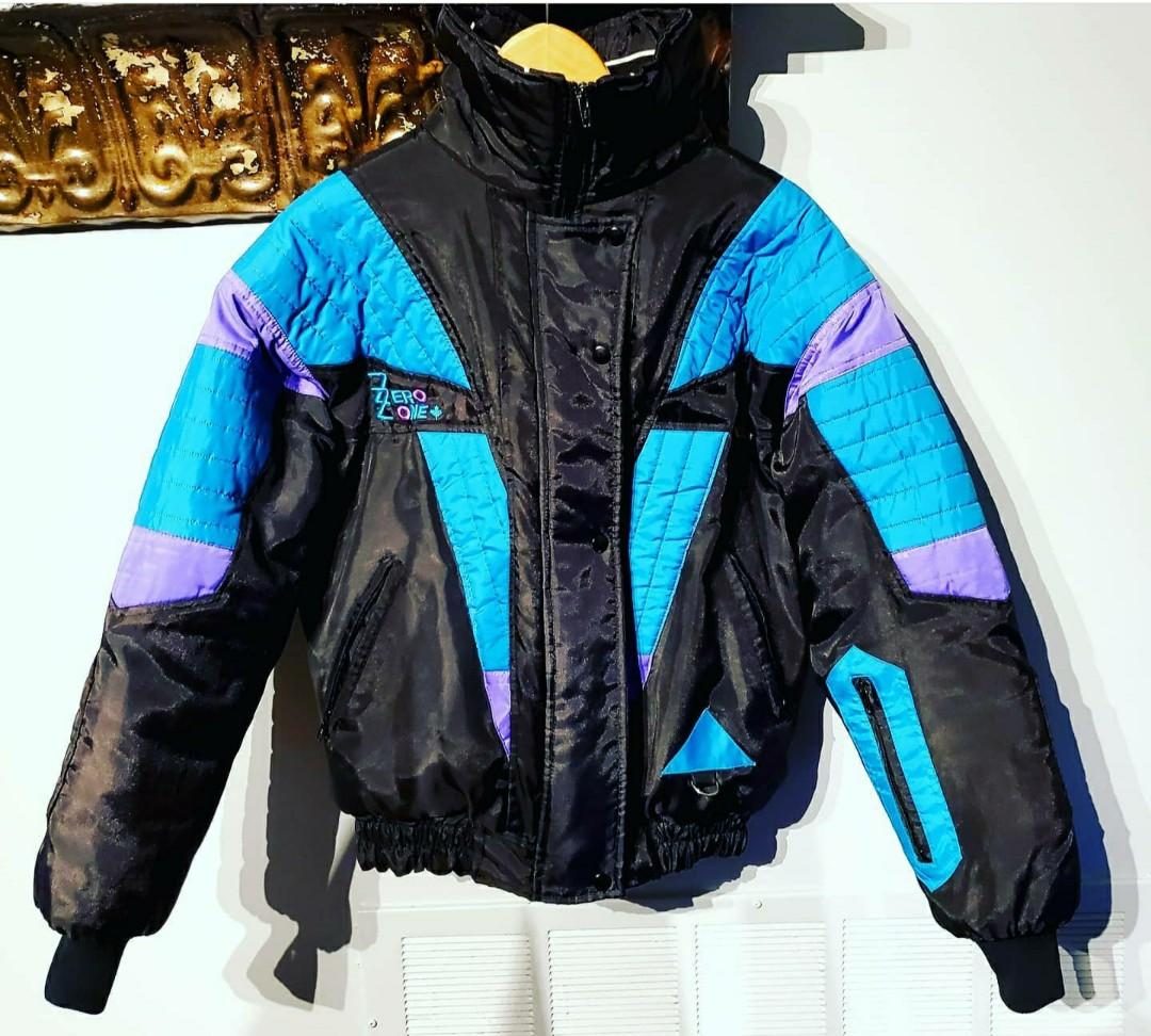 Vintage Rare 70's Zero One Color Block Ski Jacket