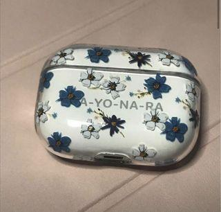 AirPod pro floral/clear case