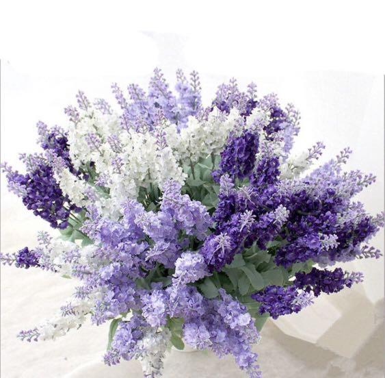 Artificial Lavender Bouquet 10 Heads Fake Flowers Faux Flowers Plant Gardening Flowers Bouquets On Carousell
