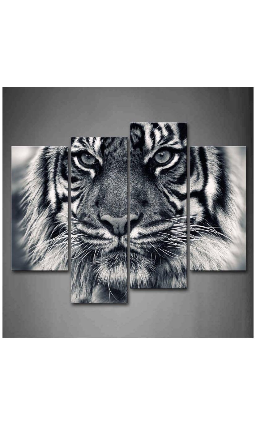 Beautiful 4 piece tiger painting