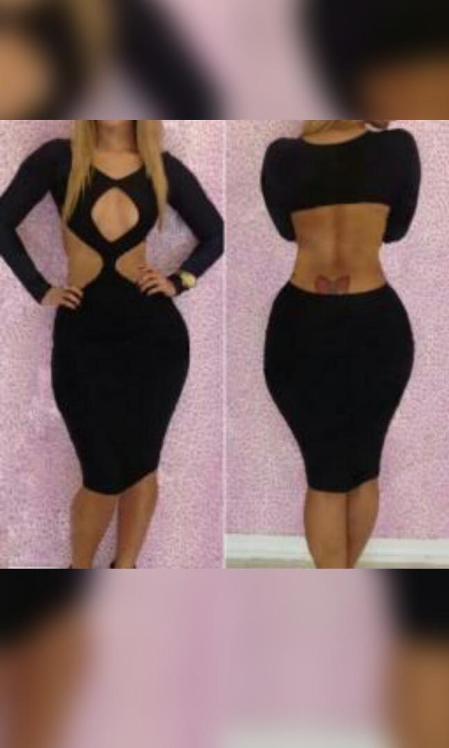 Black clubbing dress