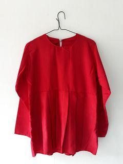 Blouse Merah Rample