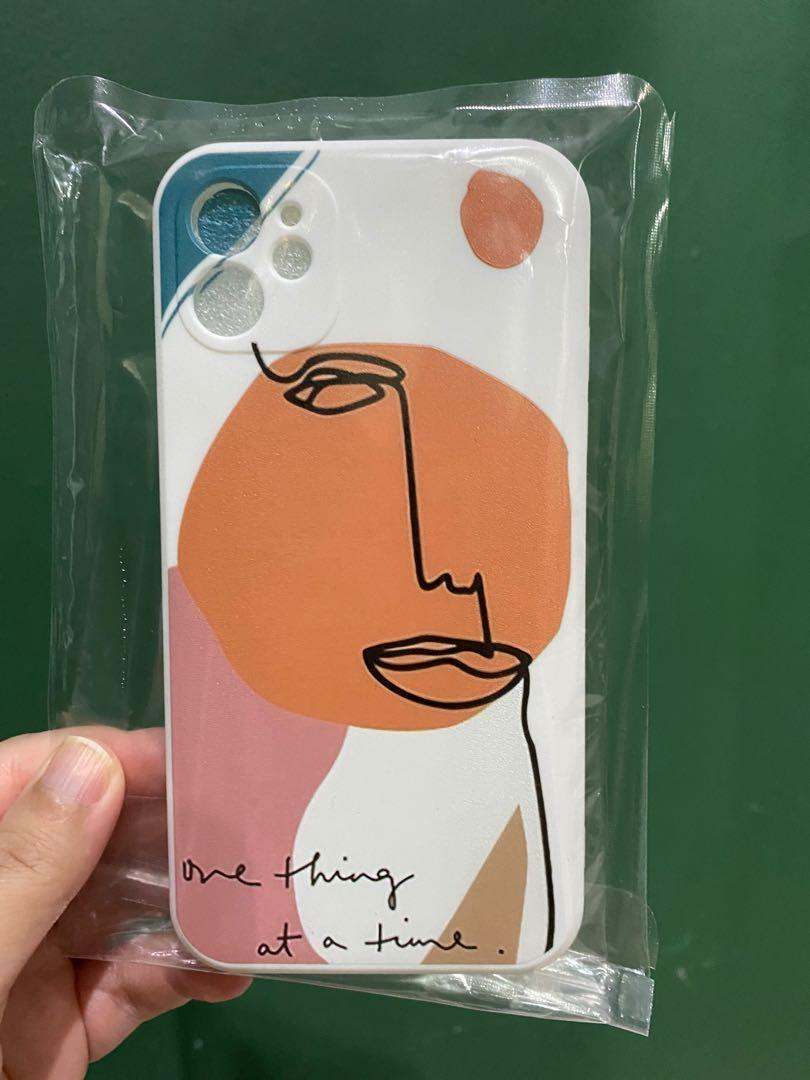 Case Iphone abstrac white