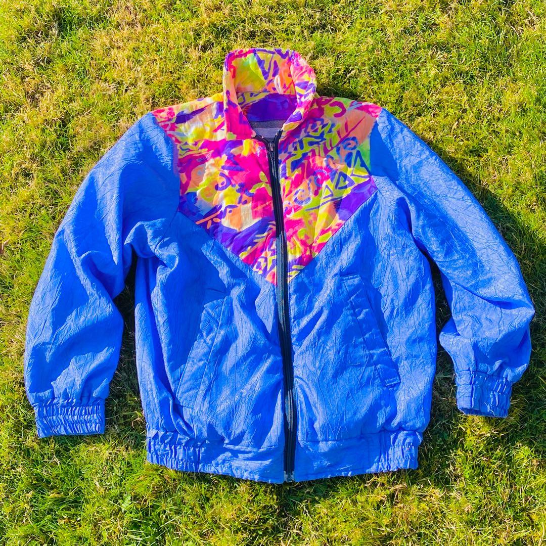 Colourful Purple Blue Sport Jacket