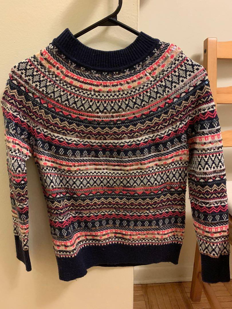 GAP sequence sweater