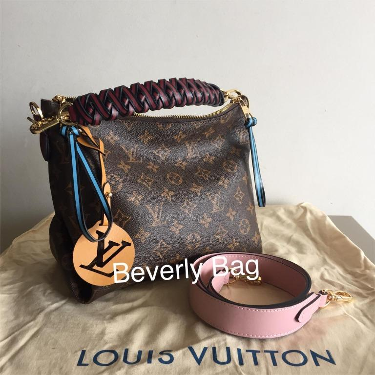 JUAL TAS BAG Lv BEAUBOURG HOBO LEATHER MIRROR QUALITY - Mono PINK