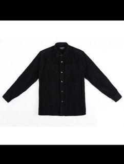 Mania 黑色燈芯絨襯衫外套