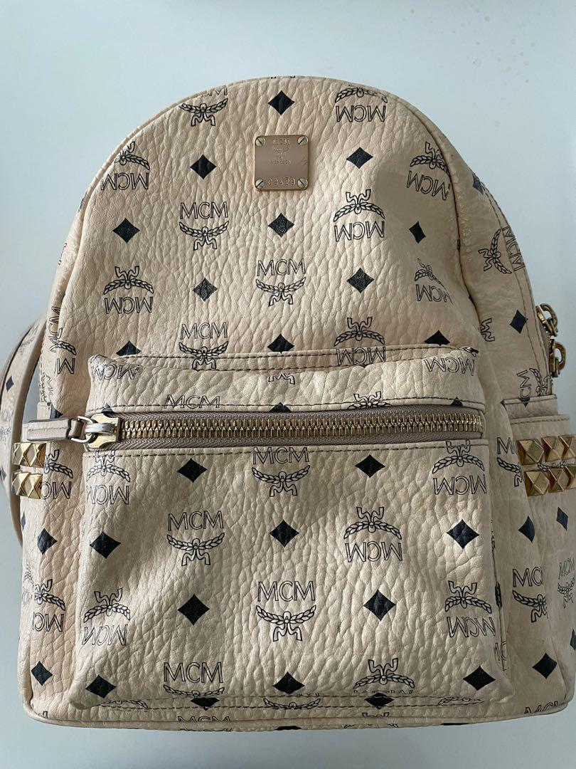 MCM authentic Nude backpack