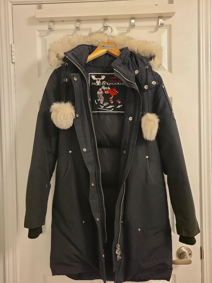 Moose knuckles black small women parka