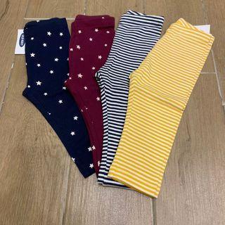 [現貨在台]Old Navy 老海軍 嬰兒內搭褲四件組 星星 橫條紋 Leggings 寶寶 長褲