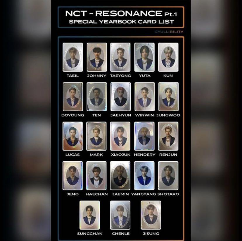(PO) NCT 2020 Resonance Official Special Yearbook Photocards