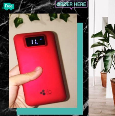 Powerbank Ilo Red Digital 10000 Mah by Hippo ORIGINAL