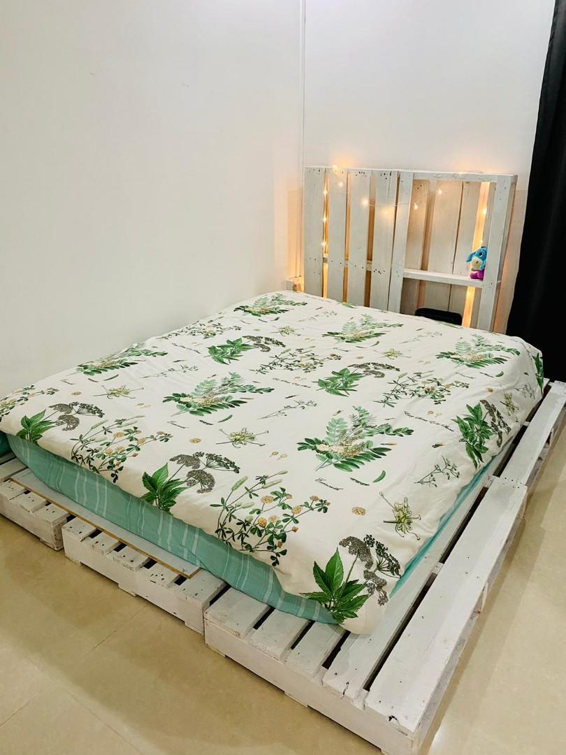 Romantic Pallet Bed Frame Furniture Beds Mattresses On Carousell