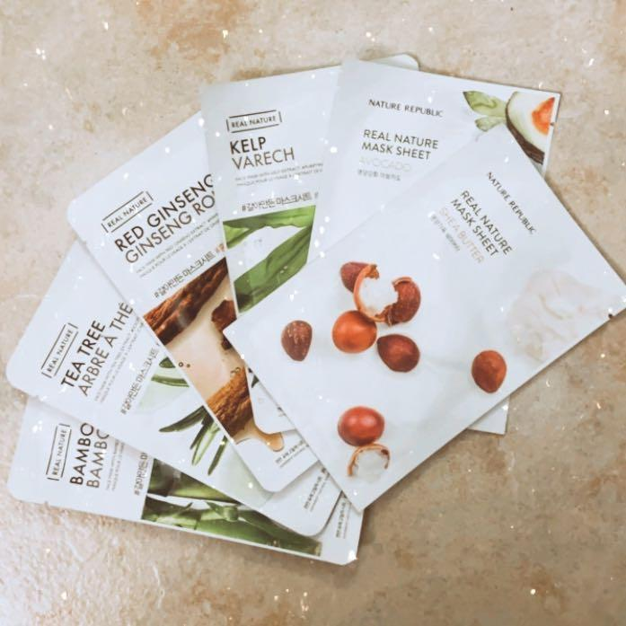 The Face Shop and Nature Republic Face Sheet Mask
