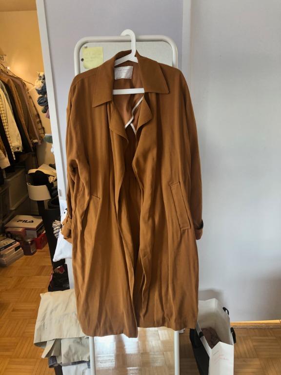 Zara Caramel Fall Trench Coat
