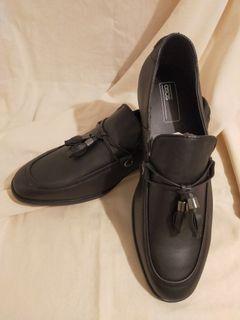 (全新)黑色經典懶人皮鞋