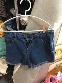 抽鬚深藍短褲 S