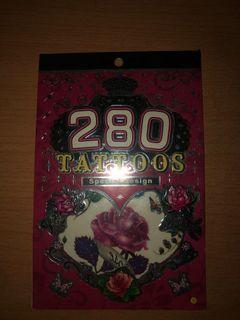 ABG rose temporary tatoos
