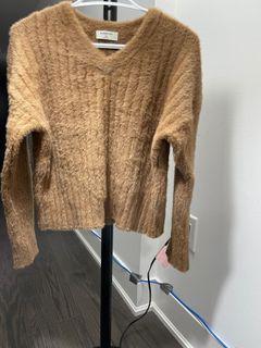 Aritzia Brown Fuzzy Sweater